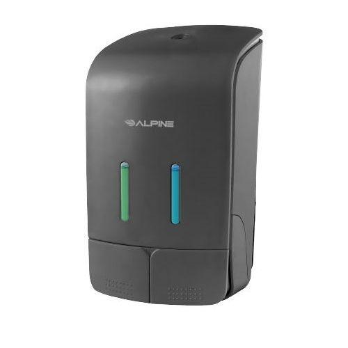 Alpine Industries ALP426-GRY Double 18.5Oz Soap & 18.5Oz Hand Sanitizer Dispenser Gray, EA