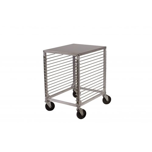 Winco ALRK-15, Aluminum Sheet Pan Rack with Wire Slides and Hard Top