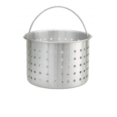 Winco ALSB-20, 20-Quart Aluminum Steamer Basket for ALST-20, ALHP-20 & SST-20, NSF