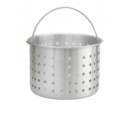 Winco ALSB-32, Win-Ware 32-Quart Aluminum Steamer Basket for ALST-32, ALHP-32 & SST-32, SST-40, NSF