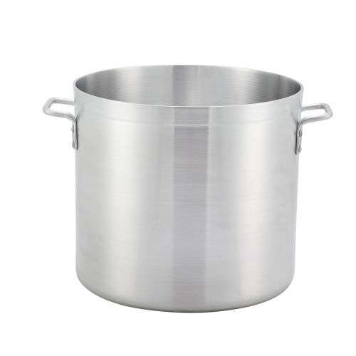 Winco ALST-24, 24-Quart 11.4 Inch High Aluminum Stock Pot with 12.6-Inch Diameter, NSF