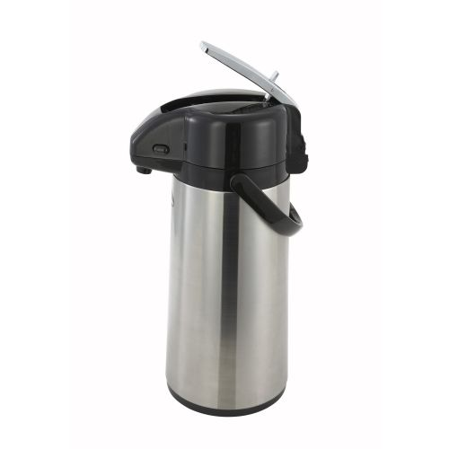 Winco AP-835, 3.0-Liter Glass-Lined Steel Body Lever-Top Vacuum Server