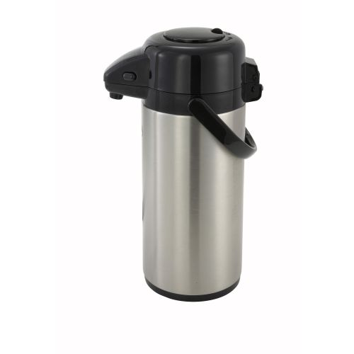 Winco APSP-930, 3.0-Liter Stainless Steel Body and Liner Push-Button Vacuum Server