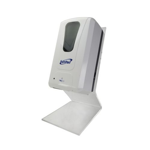 SET: SafePro Wallmount Automatic 1200 ML Dispenser And Countertop Dispenser Stand