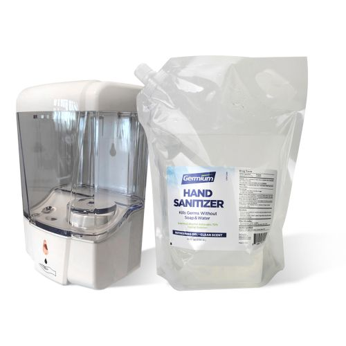 SET: Automatic Wallmount 23 Oz Dispenser and 80 Oz Hand Sanitizer