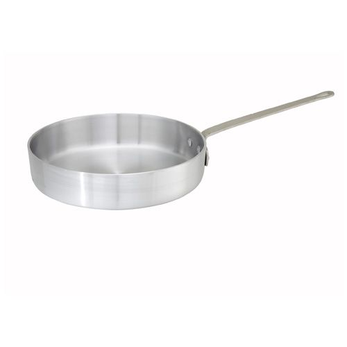 Winco ASET-3, 3-Quart 2.6-Inch High Win-Ware Aluminum Saute Pan with 9.8-Inch Diameter, NSF