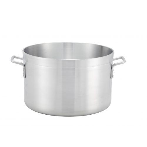 Winco ASHP-08, 8-Quart Extra-Heavy Precision Aluminum Sauce Pot, NSF