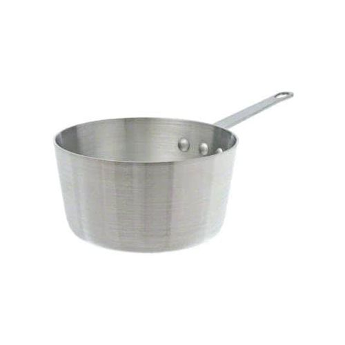 Winco ASP-6SW, 6.5-Quart Tri-Ply Stainless Steel Straight-Sided Sauce Pan w/о Lid, Natural Finish, NSF