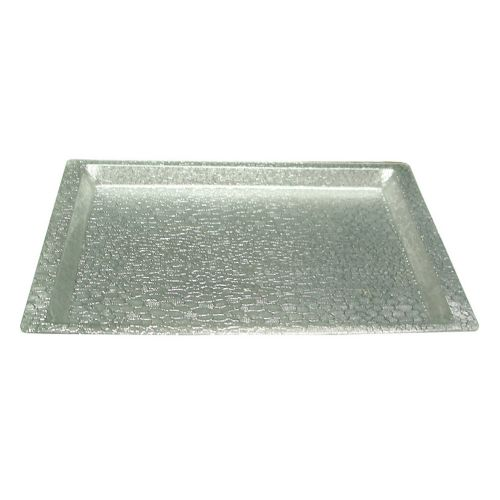 Winco AST-1S, Full-Size Silver Textured Acrylic Display Tray