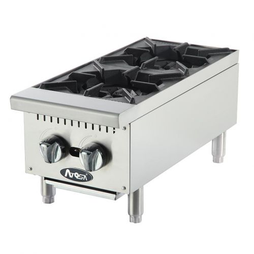 Atosa CookRite ATHP-12-2, 12-Inch Heavy Duty Two Burner Hot Plate / Countertop Range