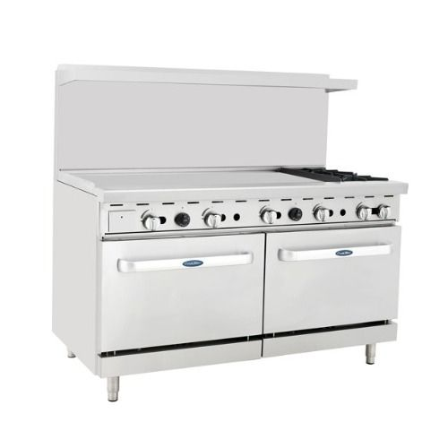 Atosa Cookrite Ato 48g2b Gas Range 60 Inch 2 Burners Heavy Duty Gas Range With 48 Inch Left Handed Griddle And Two Ovens Mcdonald Paper Supplies