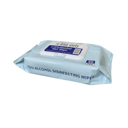 Blue Unity AW50CT-X 75% Alcohol Wet Wipes, 50 Wipes/Pack, 1 PK