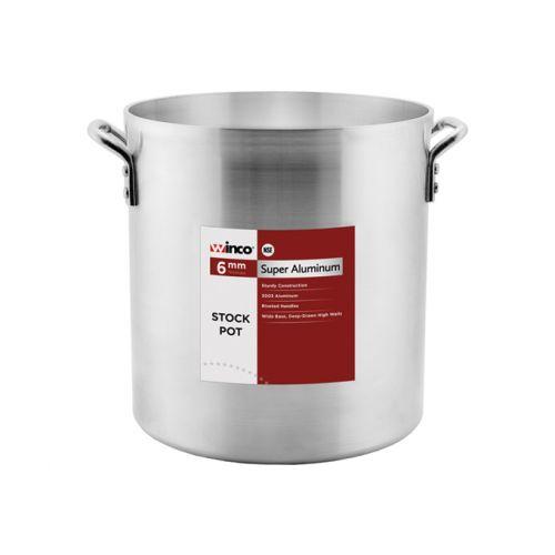 Winco AXHH-120H, 120-Quart Precision Aluminum Stock Pot with 4 Handles