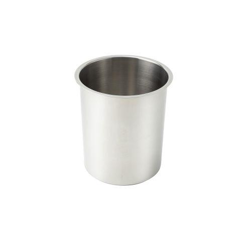 Winco BAM-6, 6-Quart Stainless Steel Bain Marie, 7.25-Inch Diameter x 8.75-Inch High