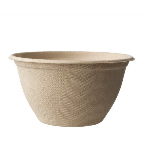 World Centric BB-SC-U12, 12-Ounce Fiber Barrel Bowl, 500/CS, ASTM D6400, BPI, USDA