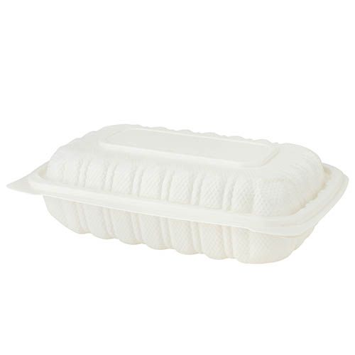 SafePro Eco BG96 9x6-inch White Square PP Hinged Container, 200/CS