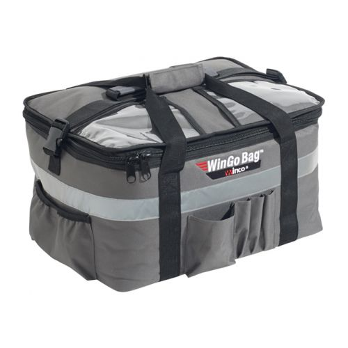 Winco BGCB-1709 WinGo Premium Insulated Catering/Delivery Bag w/Beverage Divider, Medium