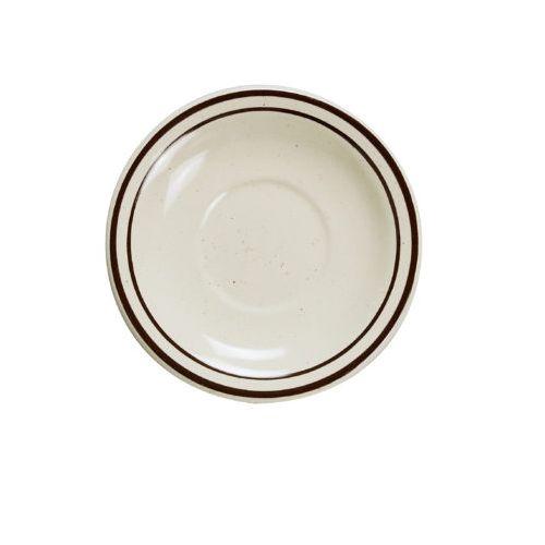 Yanco BR-2 5.5-Inch Porcelain Speckled Saucer Royal, 36/CS