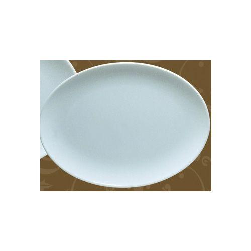 Yanco BS-2913 13.75-Inch Bay Shell Melamine Oval Light Blue Plate, DZ