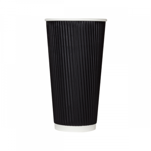 Karat CKRC520B 20 Oz Black Ripple Hot Cup, 500/CS