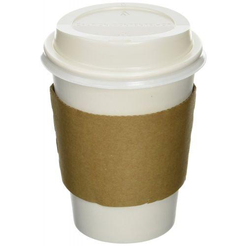 SafePro SB20 Kraft Paper 10-24 Oz Hot Cup Jacket/Sleeves, 1000/Cs