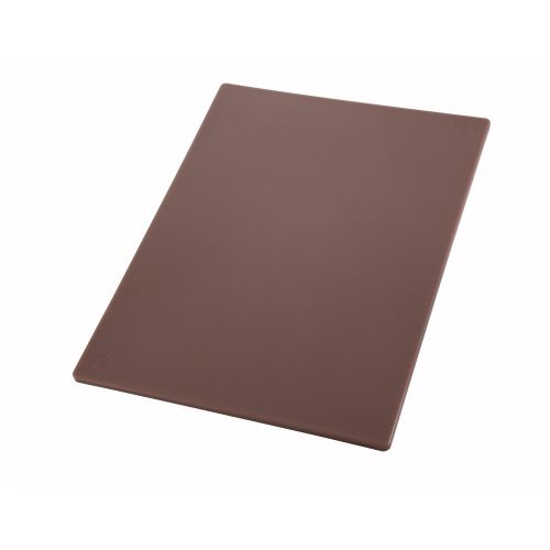 Winco CBBN-1218, 12x18x0.5-Inch Brown Cutting Board for Cooked Meats