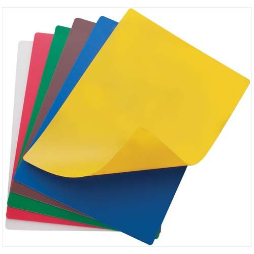 Winco CBF-1520, 15x20-Inch Flexible Cutting Mats, 6 Colors in Set