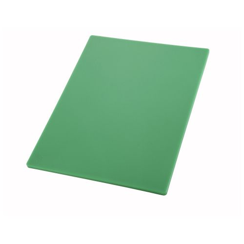 Winco CBGR-1520, 15x20x0.5-Inch Green Cutting Board for Vegetables and Fruits