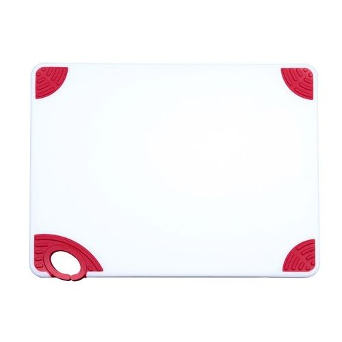Winco CBN-1218RD, 12x18x0.5-Inch Cutting Board with Hook, Red, NSF