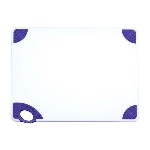 Winco CBN-1520PP, 15x20x0.5-Inch Cutting Board with Purple Hook, NSF