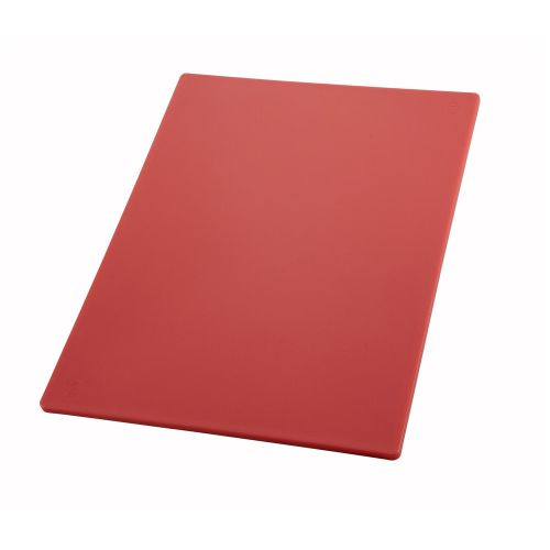 Winco CBRD-1218, 12x18.05-Inch Red Cutting Board for Raw Meats