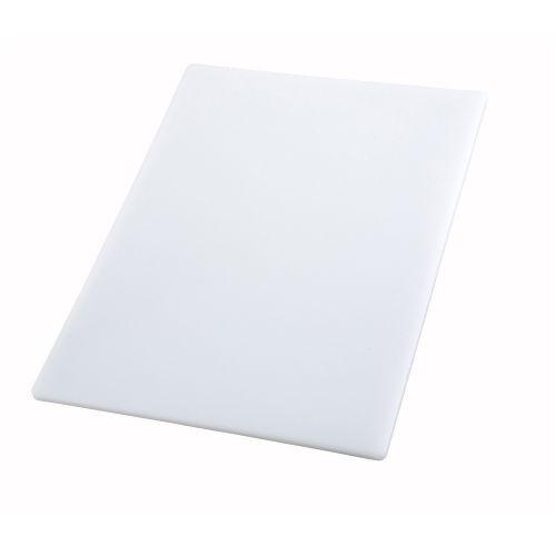 Winco CBWT-1830, 18x30x0.5-Inch White Cutting Board, NSF