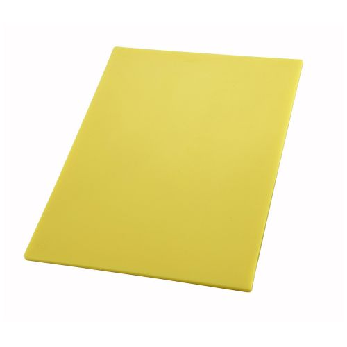 Winco CBYL-1218, 12x18.05-Inch Yellow Cutting Board for Raw Poultry and Chicken