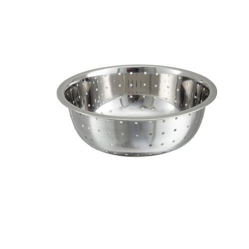 Winco CCOD-11L, 11-Inch Stainless Steel Chinese Colander with 5 mm Holes