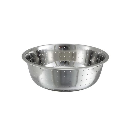 Winco CCOD-13L, 13-Inch Stainless Steel Chinese Colander with 5 mm Holes