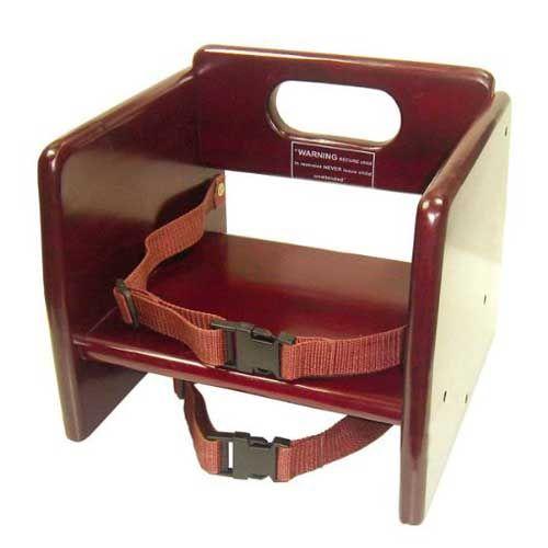 Winco CHB-703, Wood Booster Seat, Mahogany