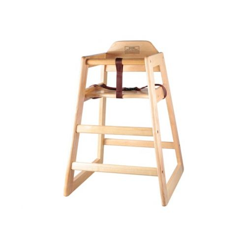 Winco CHH-101A, Wooden Assembled High Chair, Natural Color