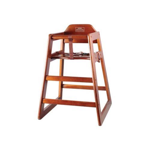 Winco CHH-104, Walnut Finish High Chair