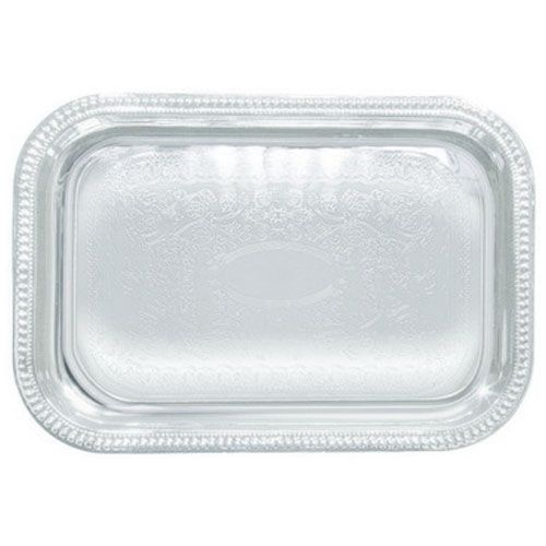 Winco CMT-2014, 20x14-Inch Chrome Plated Oblong Serving Tray with Engraved Edge