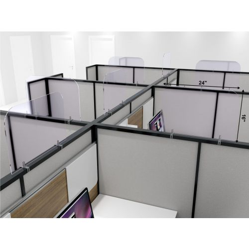 CPC1 24x16-Inch Acrylic Protective Guard for Cubicles w/Clamps