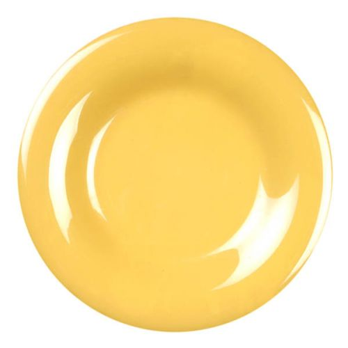 Thunder Group CR009YW 9 1/4 Inch Western Yellow Wide Rim Melamine Plate, DZ