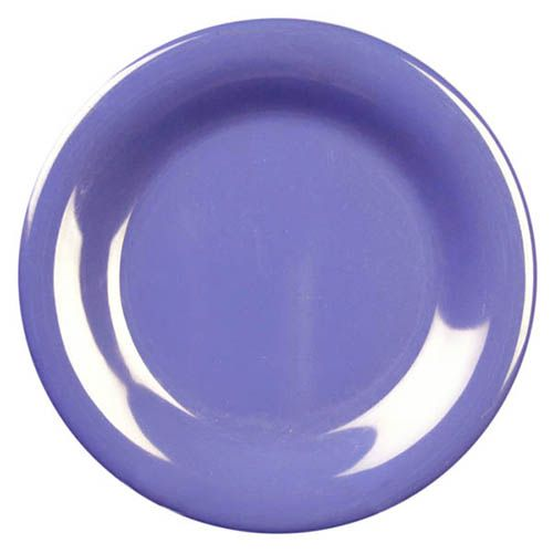 Thunder Group CR010BU 10 1/2 Inch Western Purple Wide Rim Melamine Plate, DZ