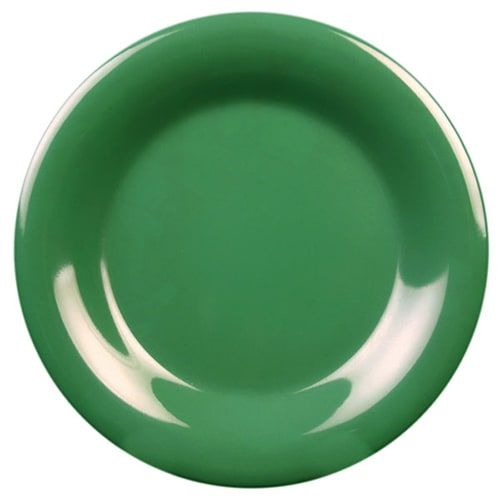 Thunder Group CR010GR 10 1/2 Inch Western Green Wide Rim Melamine Plate, DZ