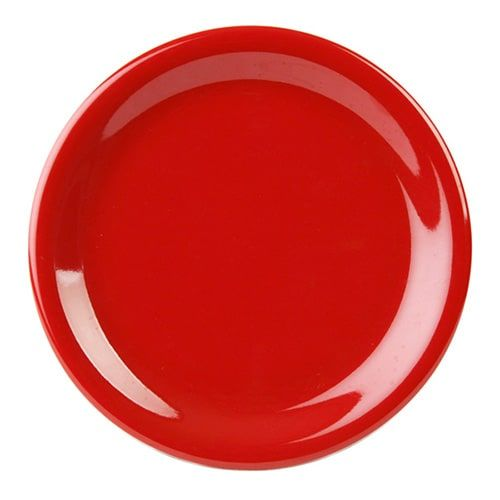 Thunder Group CR107PR 7 1/4 Inch Western Red Narrow Rim Melamine Plate, DZ