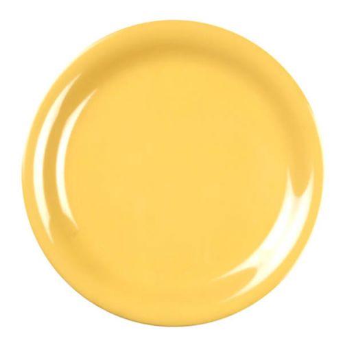 Thunder Group CR107YW 7 1/4 Inch Western Yellow Narrow Rim Melamine Plate, DZ