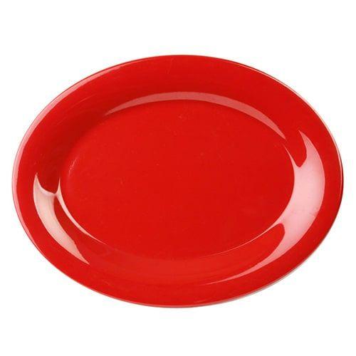 Thunder Group CR209PR 9 1/2 x 7 1/4 Inch Western Red Melamine Platter, DZ