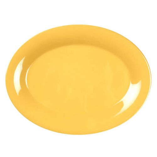Thunder Group CR213YW 13 1/2 x 10 1/2 Inch Western Yellow Melamine Platter, DZ