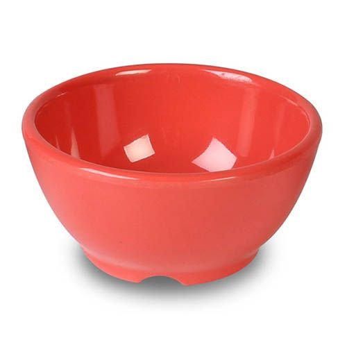 Thunder Group CR5804RD 10 Oz 4 5/8 Inch Western Orange Melamine Soup Bowl, DZ