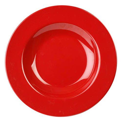 Thunder Group CR5811PR 16 Oz 11 1/4 Inch Western Red Melamine Pasta Bowl, DZ
