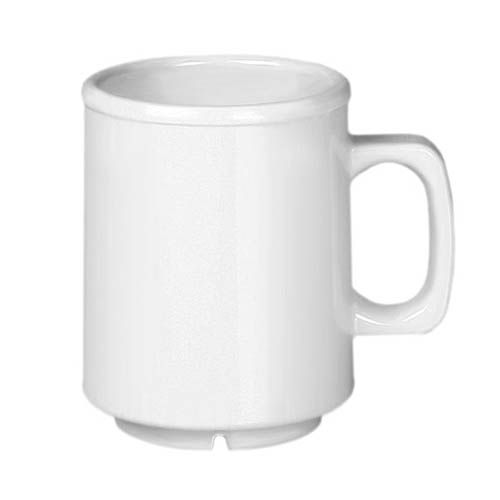 Thunder Group CR9010W 8 Oz Western White Melamine Mug, DZ